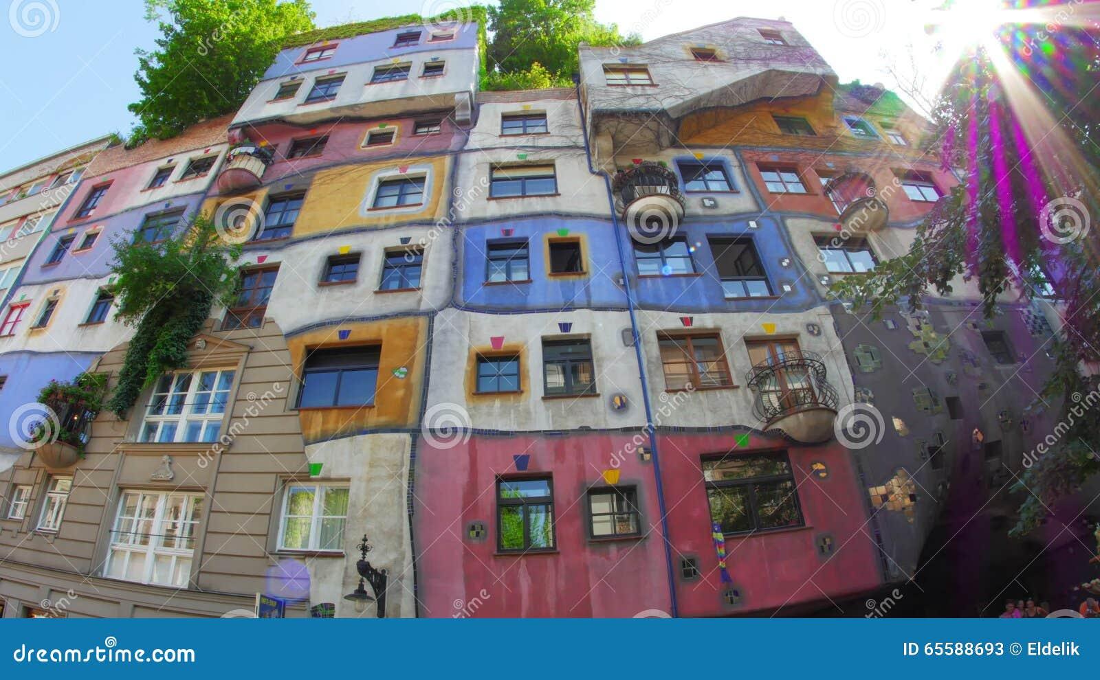 Seltsames Hundertwasser Haus, Zeitgenössische Architektur, Wien ...