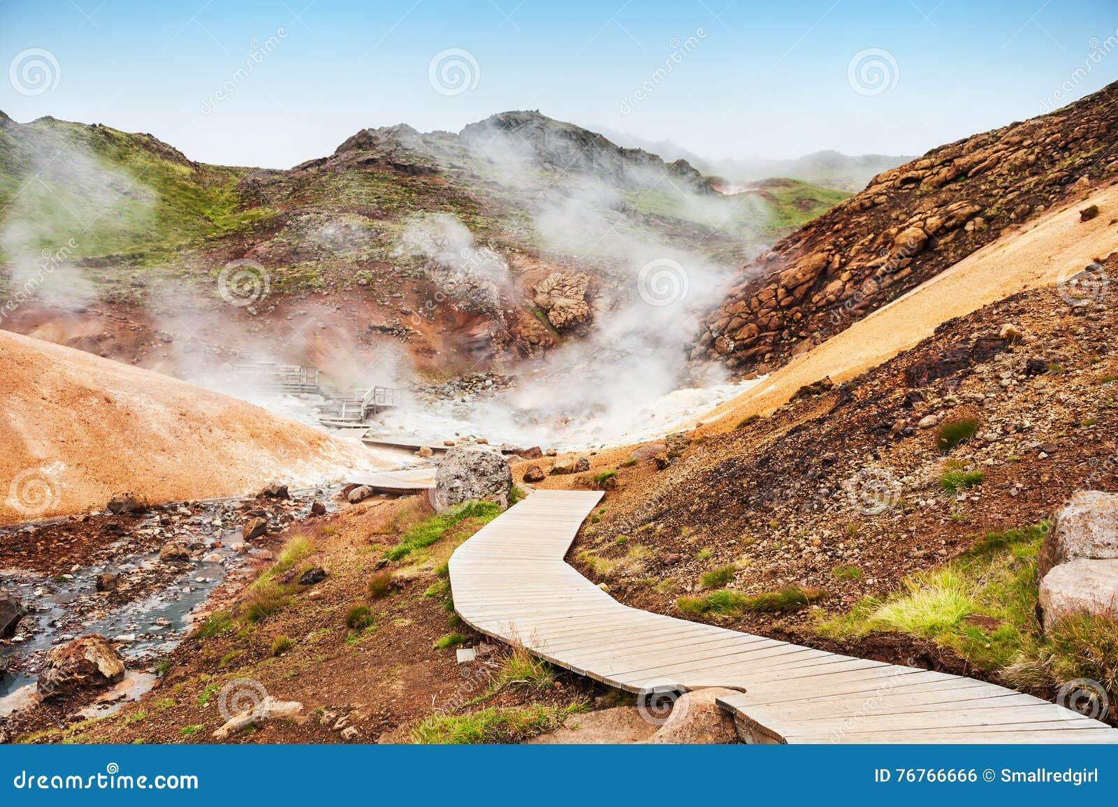 Seltun geotermiczny teren w Iceland