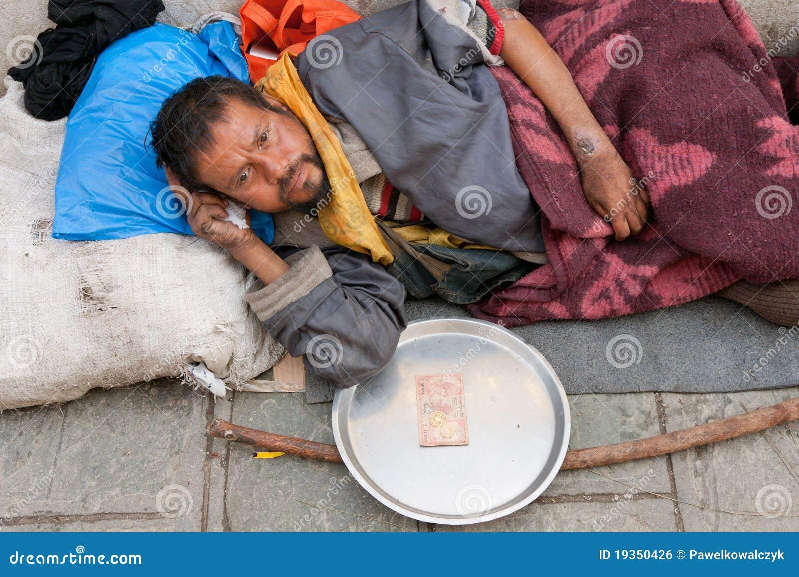 Sem abrigo em Nepal