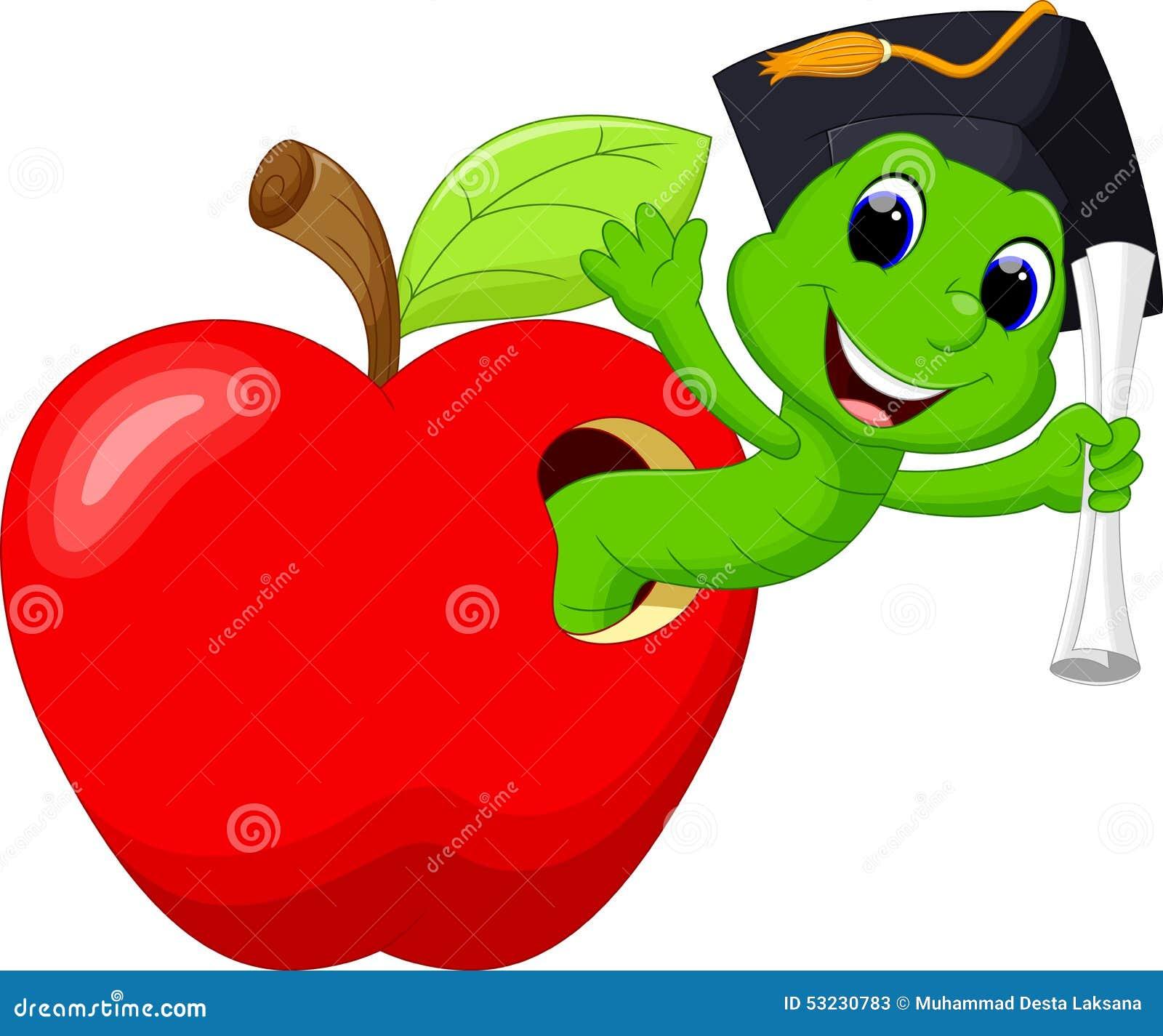 Sem-fim na maçã vermelha