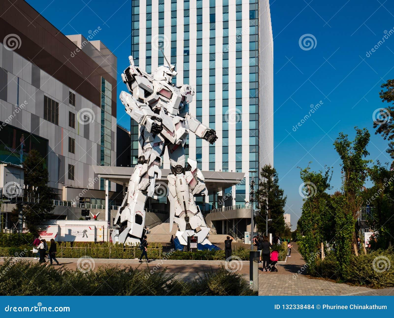 Sem redução de RX-0 Unicorn Gundam no mergulhador City Tokyo Plaza no Od