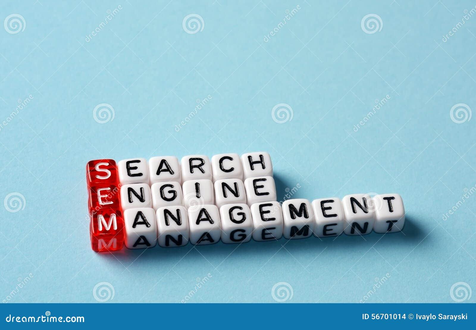 SEM Search Engine Management Stock Photo