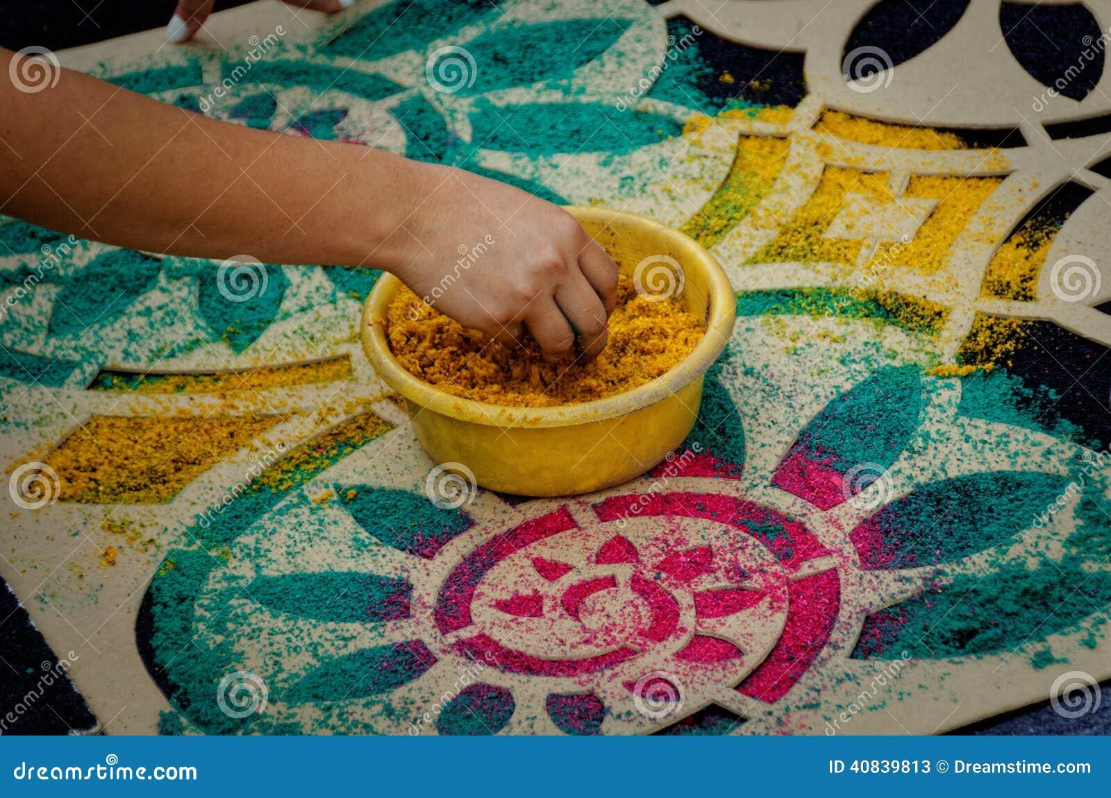 Semana santa carpet stencil imagen de archivo imagen de for Alfombras usadas