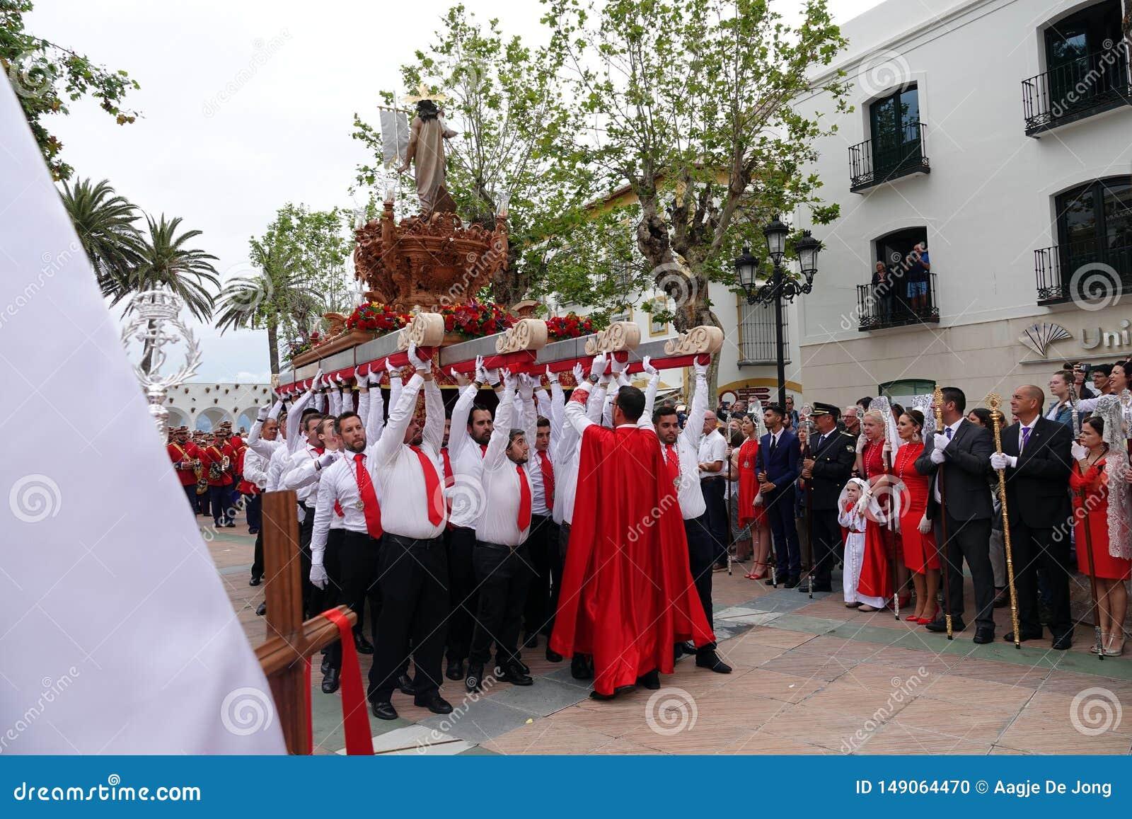 Semana Santa Easter Sunday à Nerja, Andalousie, Espagne