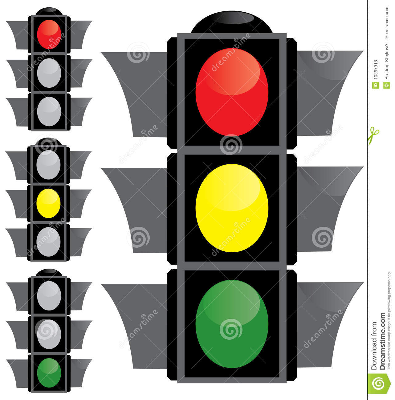 Semaphore Or Traffic Light Royalty Free Stock Photos