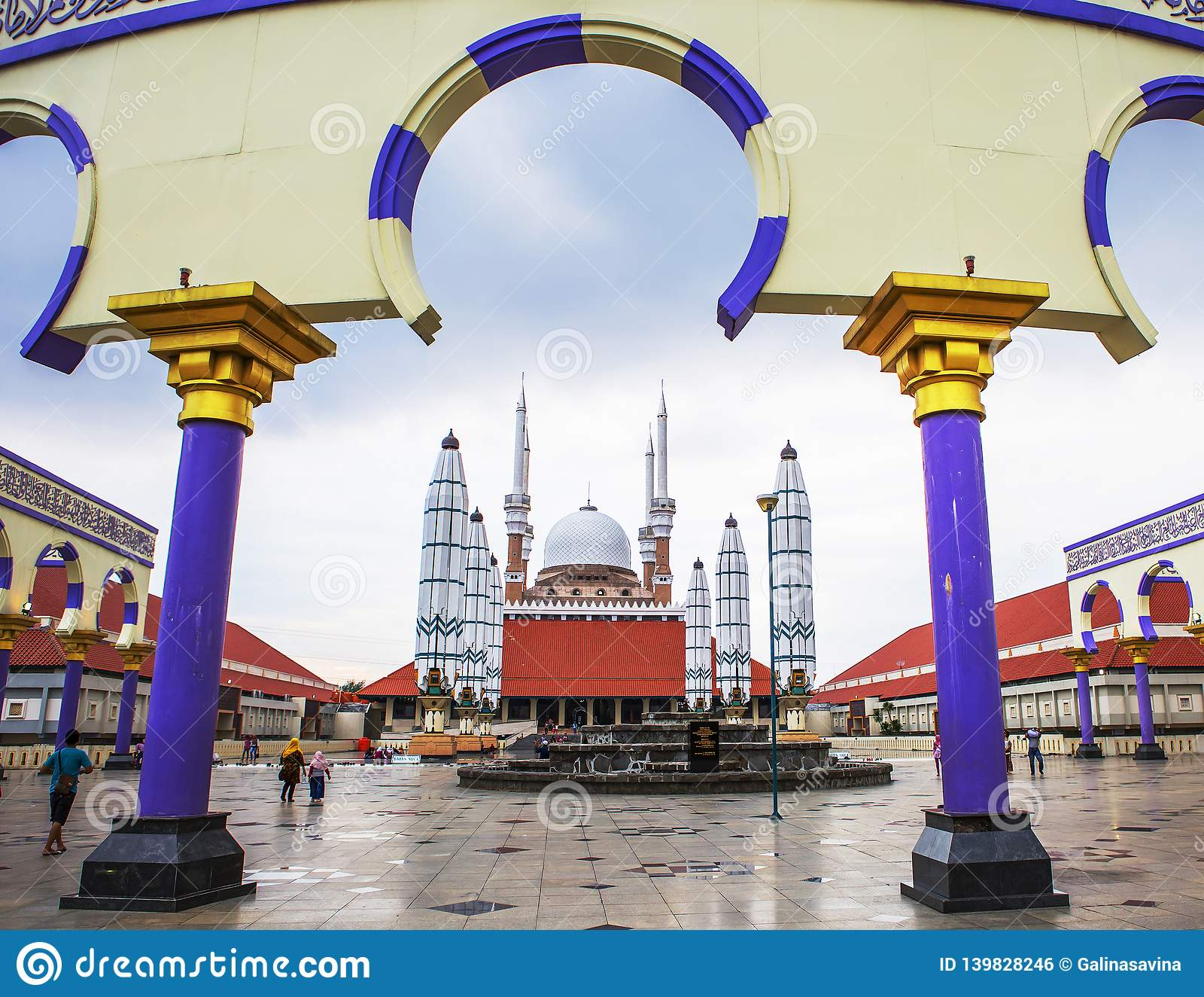 Semarang Indonesia Masjid Agung Mosque Editorial Photo Image
