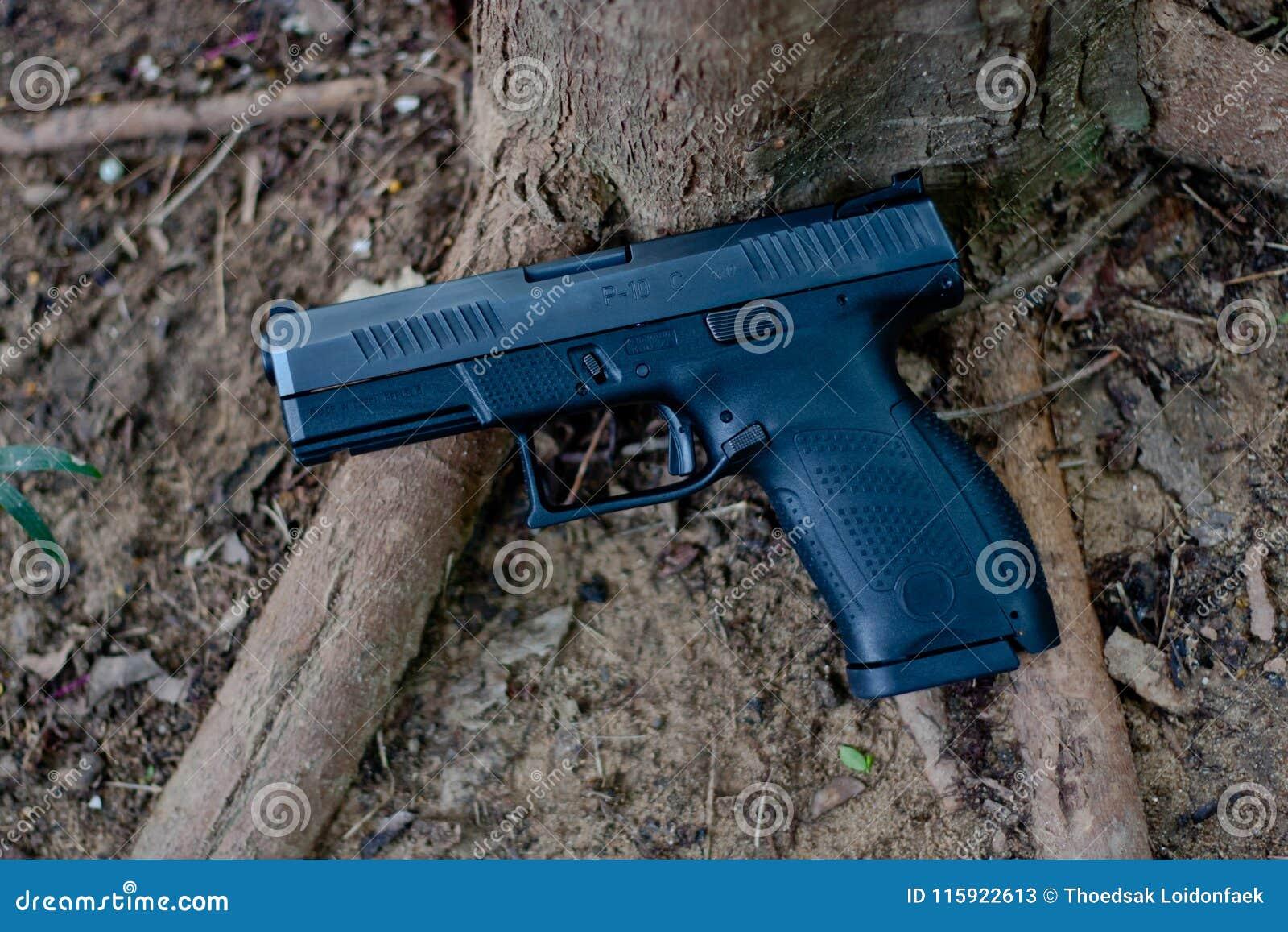 Semi автомобиль пистолет 9 mm, оно забастовщик ` s увольняло пистолеты с телом полимера где облегченный Это личное огнестрельное