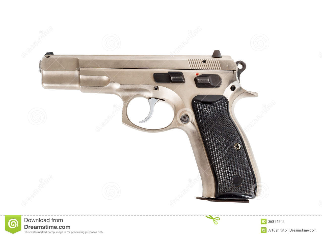 gun white background - photo #36