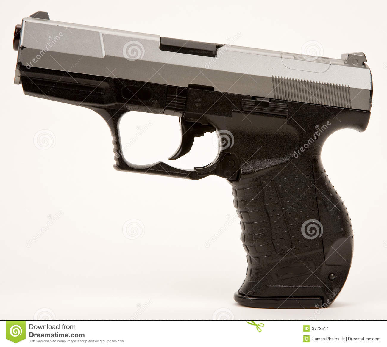 Semi automatic hand gun stock images image