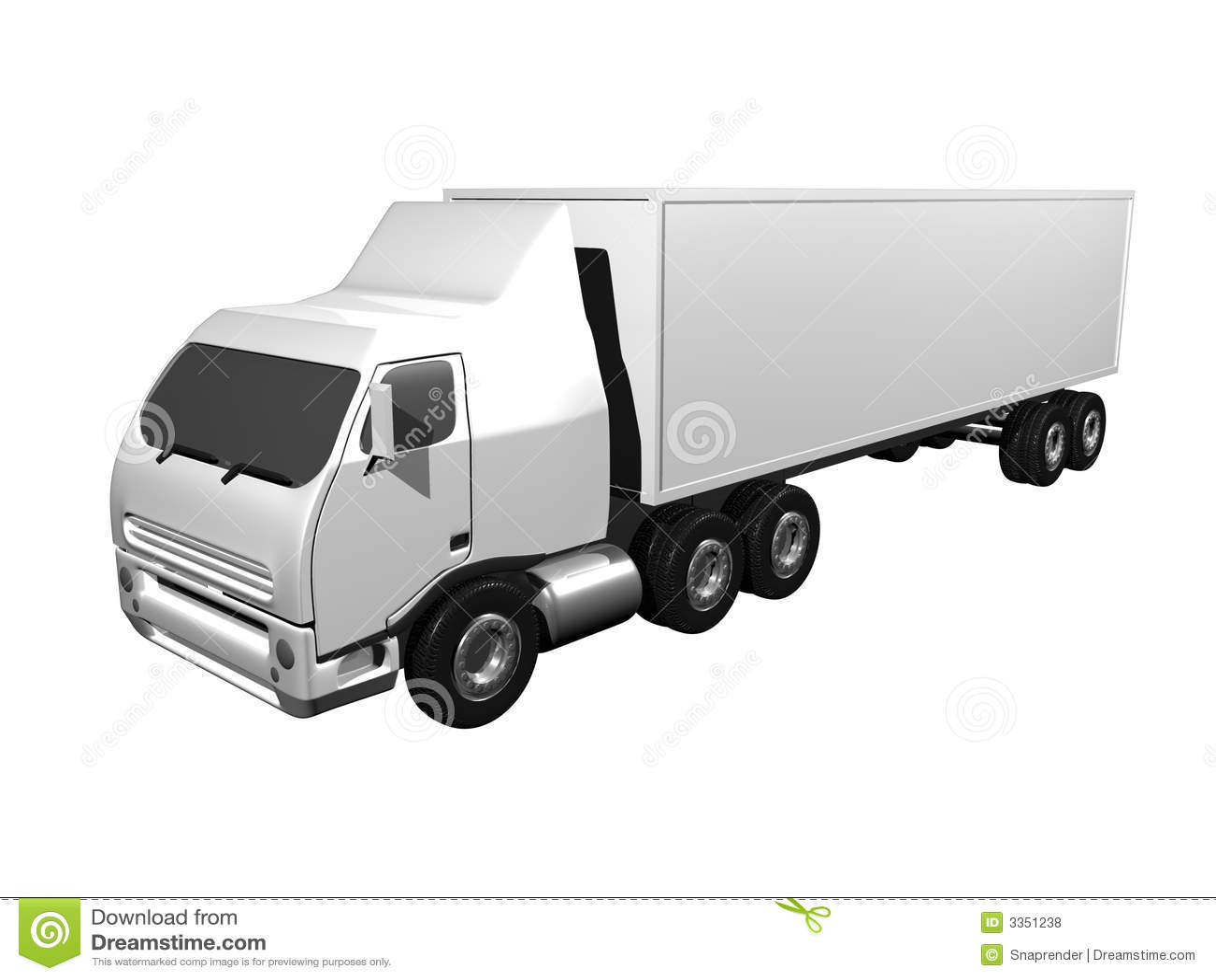 Semi-caminhão 3D