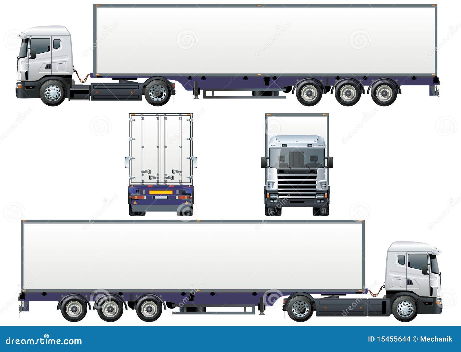 Semi Camion De Cargaison De Vecteur Images Stock Image