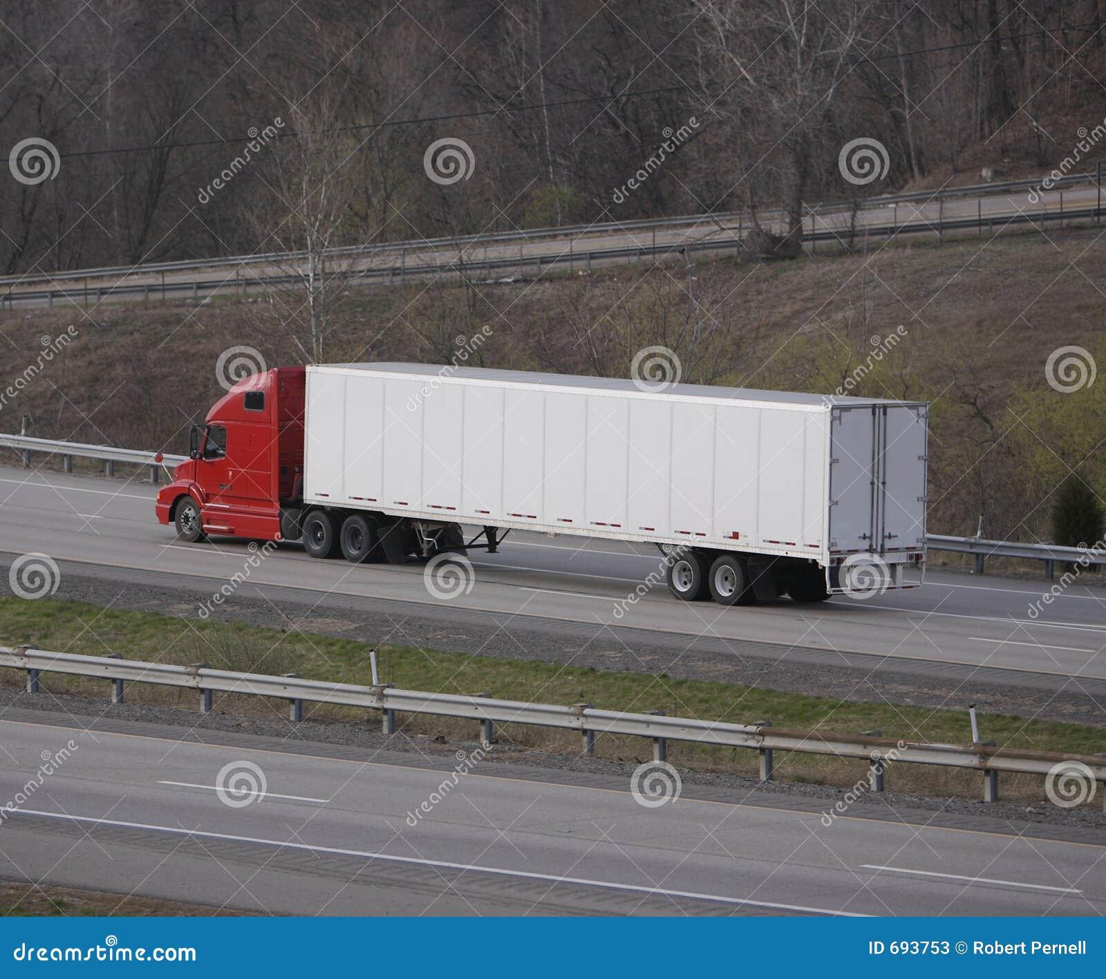Semi camion de remorque d entraîneur