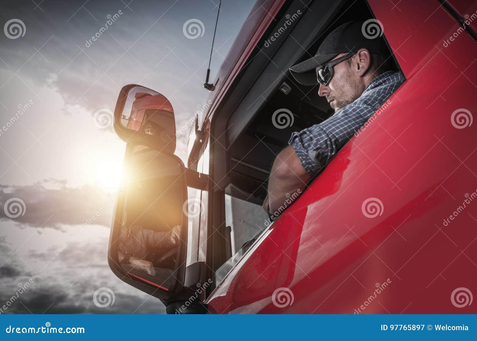 Semi chauffeur de camion