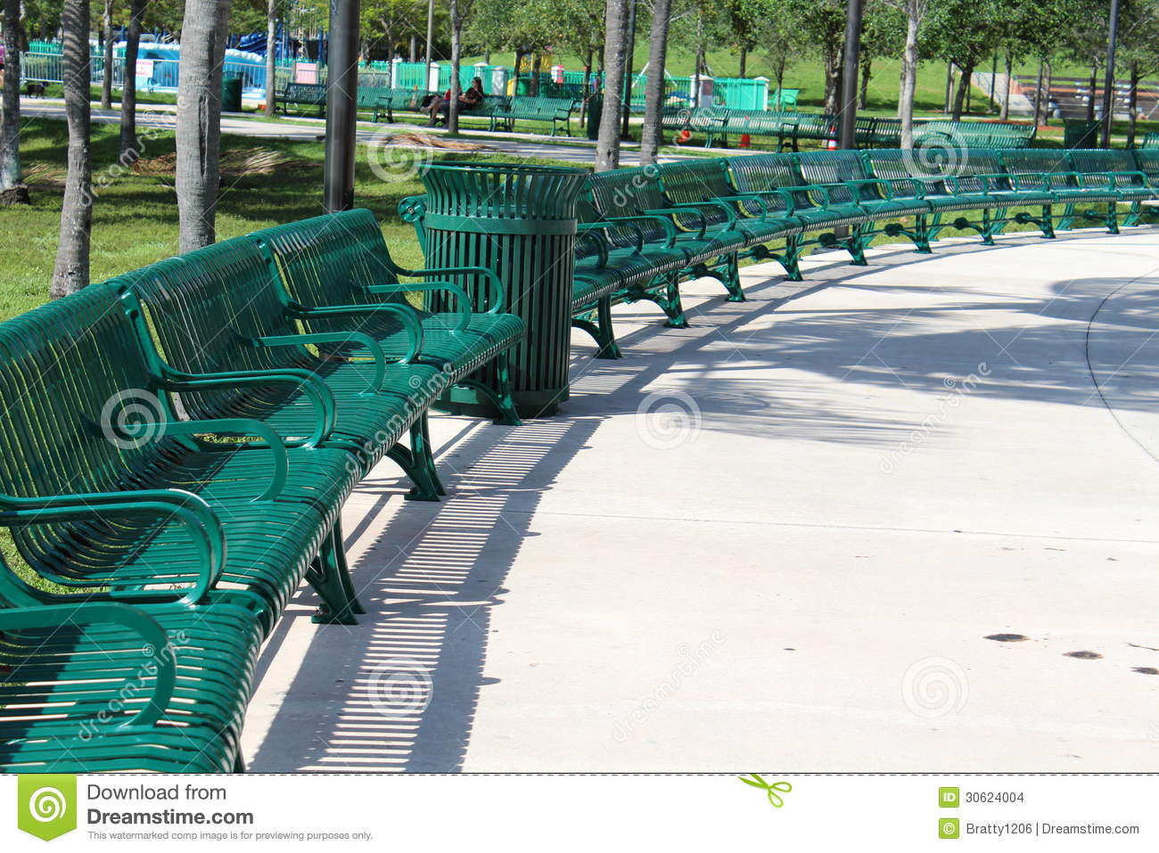 Public Park Benches Part - 46: Royalty-Free Stock Photo