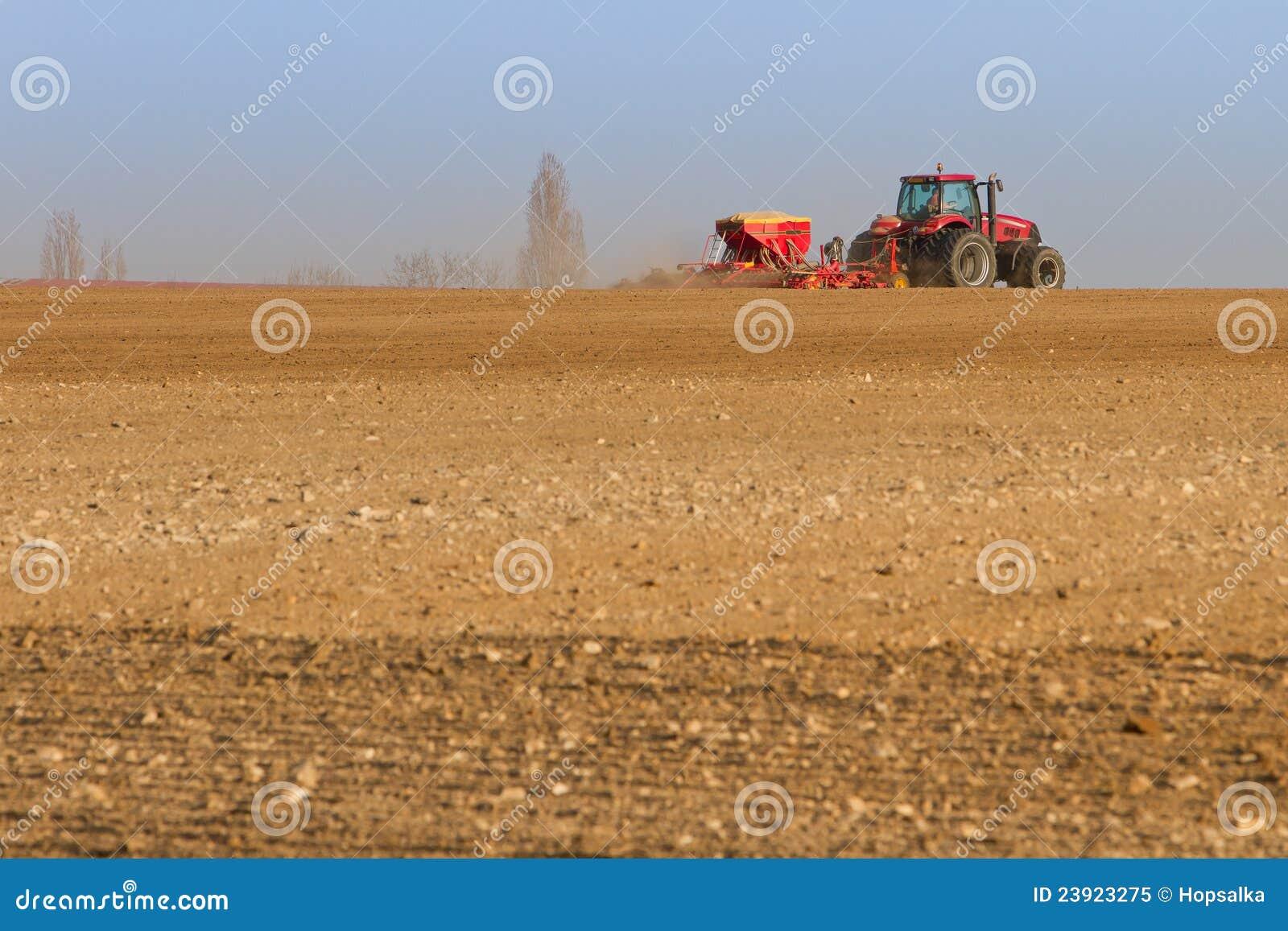 Semi della semina del trattore di agricoltura