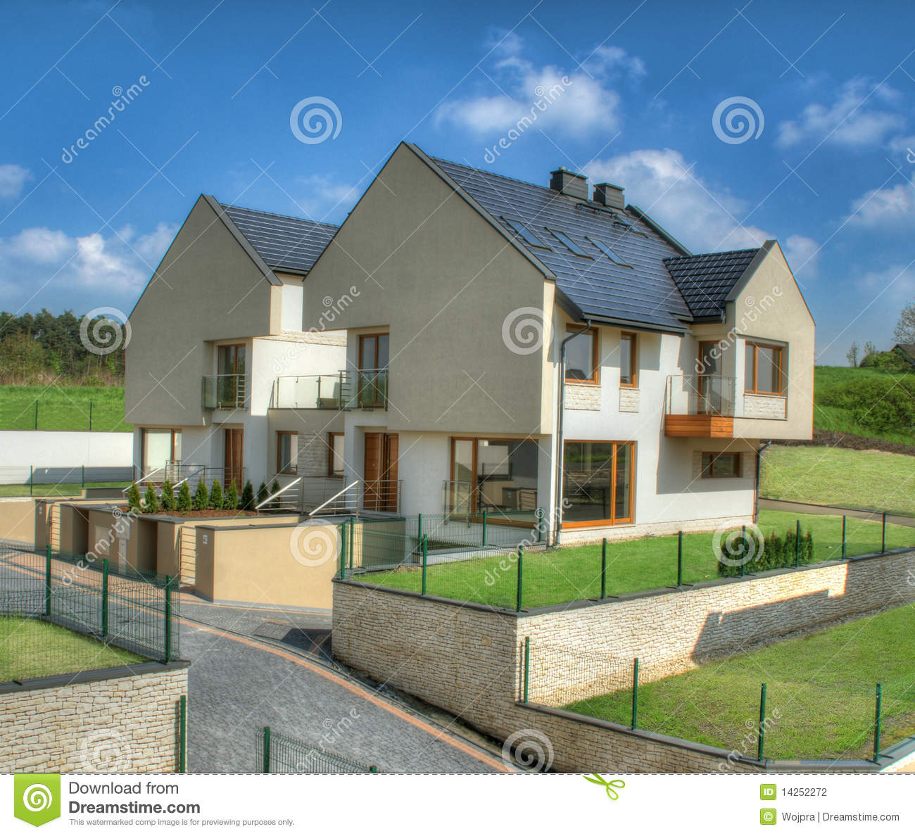 Semi Detached House Stock Photography Image 14252272