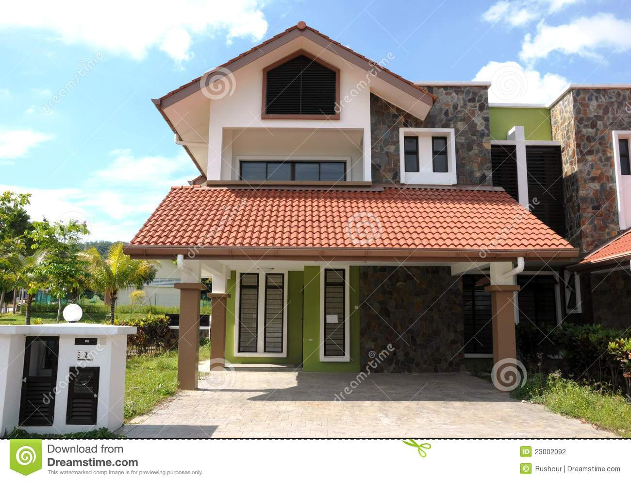 Semi Detached House Stock Photo Image Of Cloud House 23002092