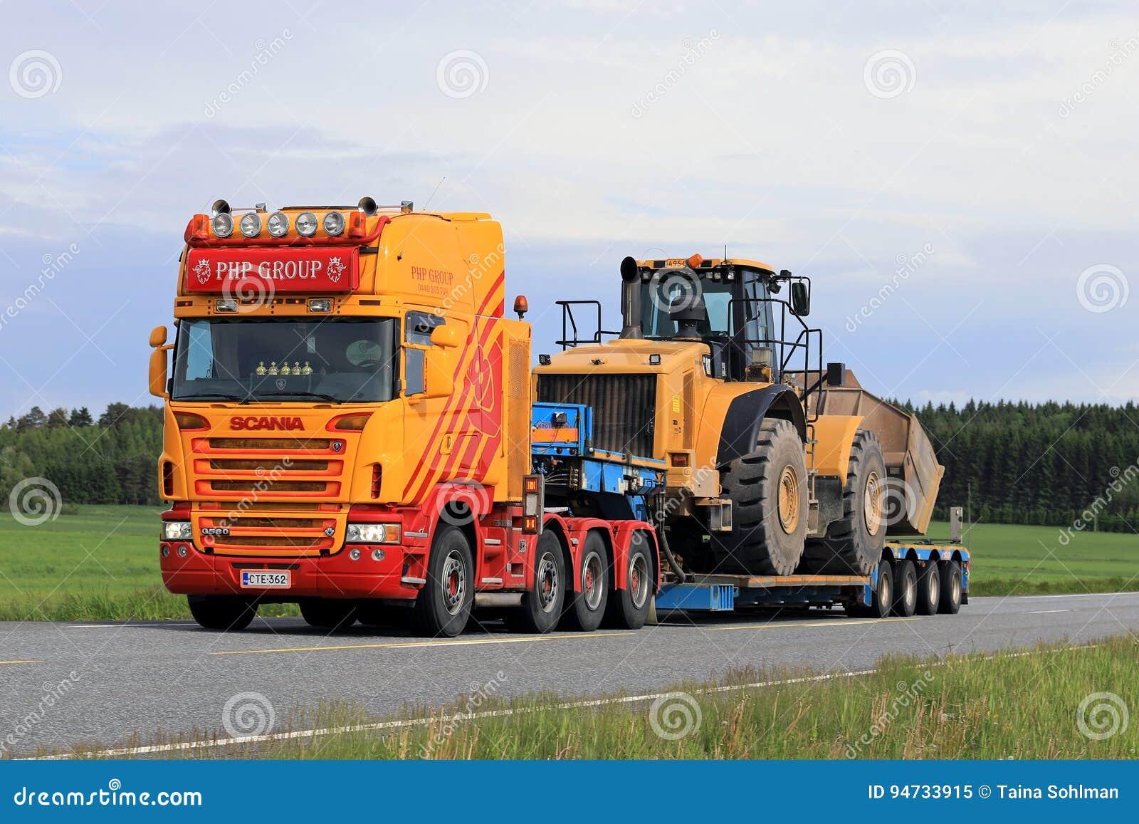 Semi modificado para requisitos particulares el remolque acarrea el cargador grande de la rueda