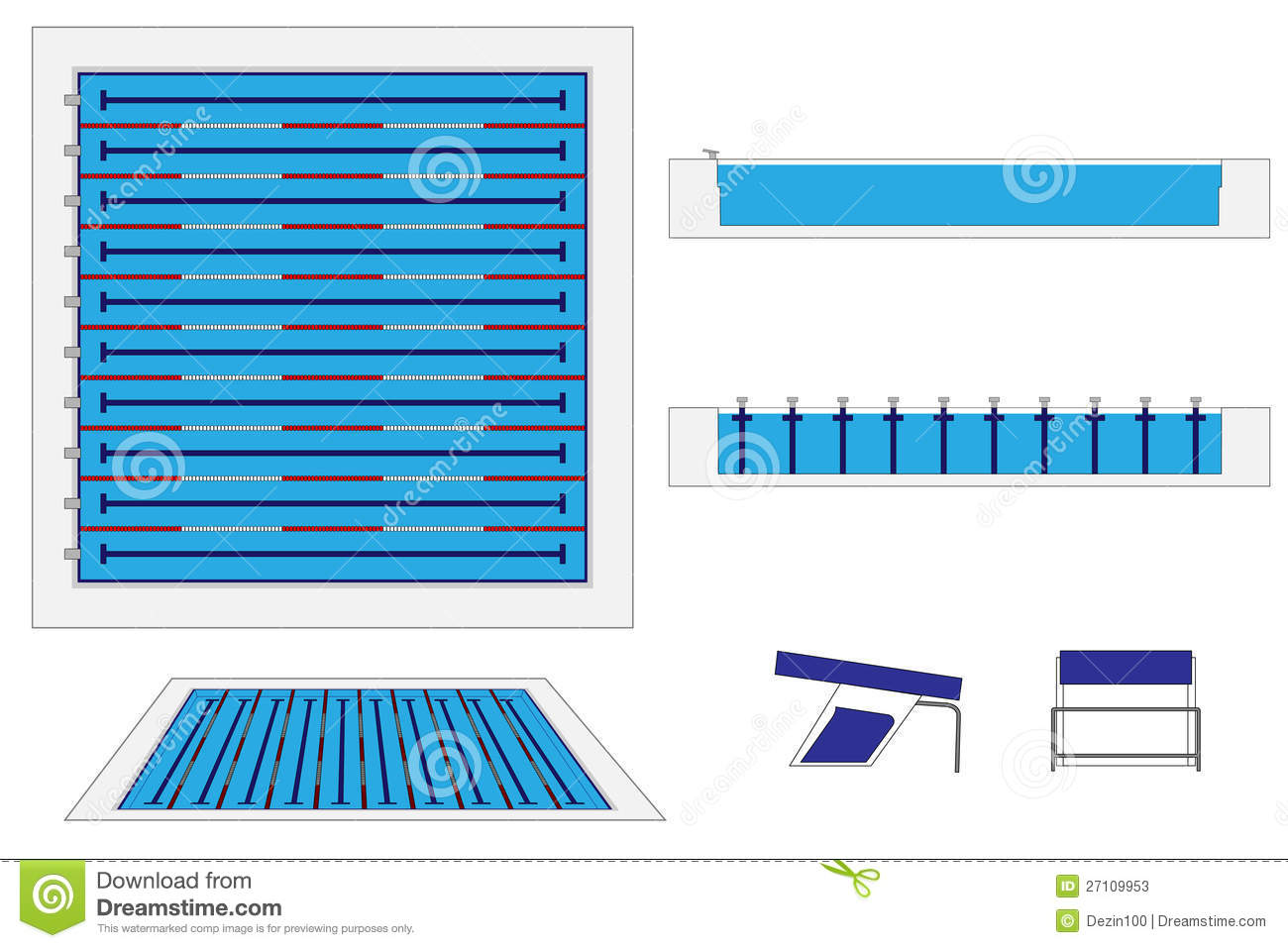 Olympic Swimming Pool Diagram modren olympic swimming pool top view compete in the breastroke at