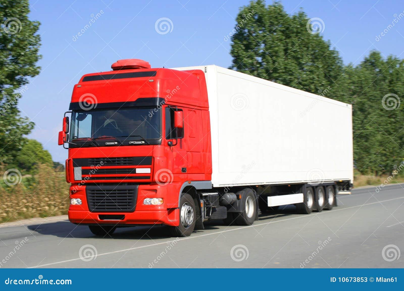 semi remorque de camion image stock image du arbres 10673853. Black Bedroom Furniture Sets. Home Design Ideas