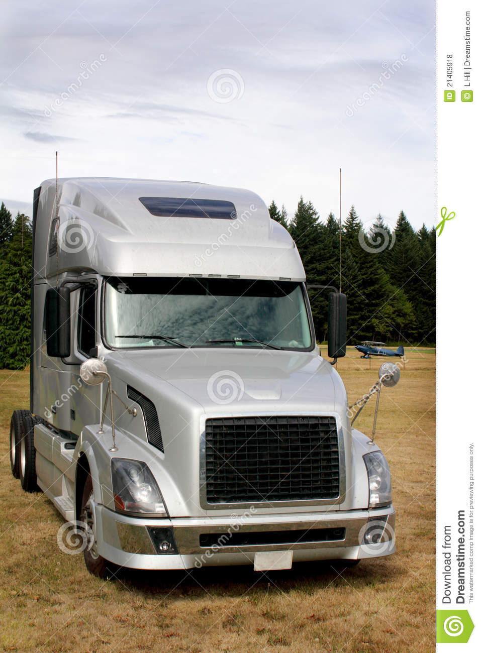 Semi Sleeper Cab Stock Photo Image Of Delivery Freight