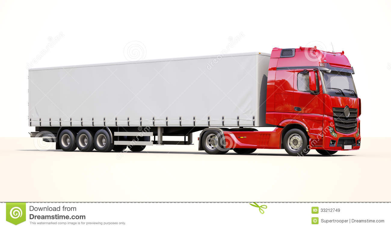 18 Wheeler Prices >> Semi-trailer truck stock image. Image of carrier, delivery - 33212749