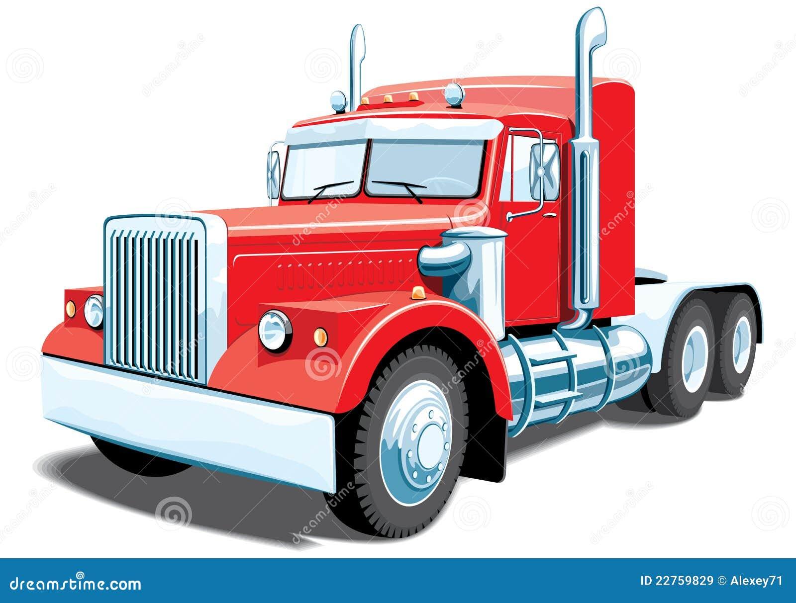 semi truck stock vector illustration of supply image 22759829 rh dreamstime com semi truck clipart black and white semi truck silhouette clip art