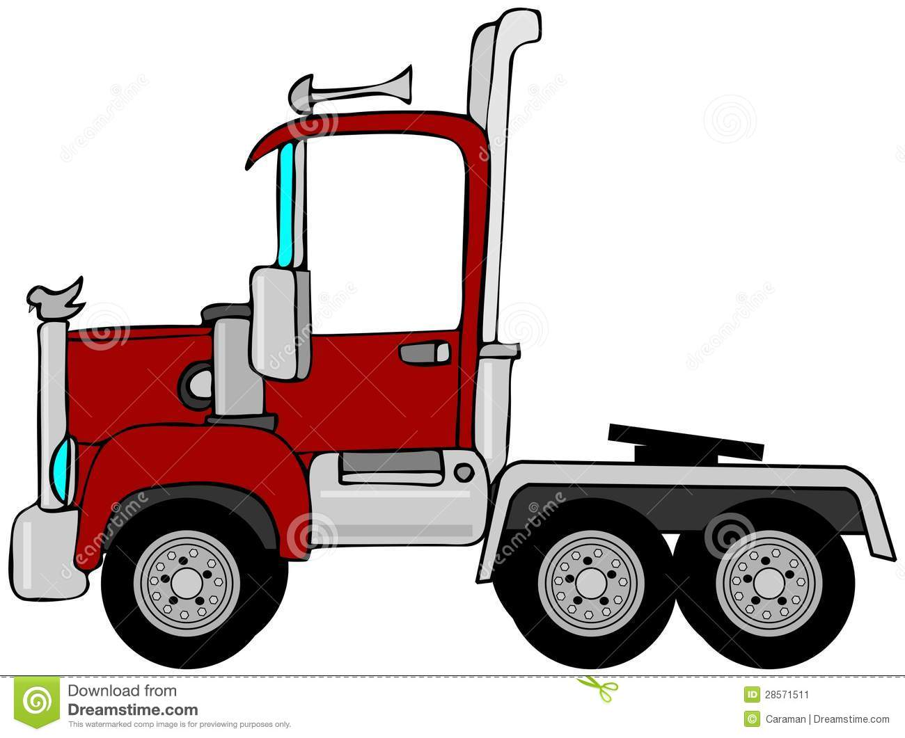 Semi Truck Seats >> Semi truck cab stock vector. Image of horn, pipe, truck - 28571511