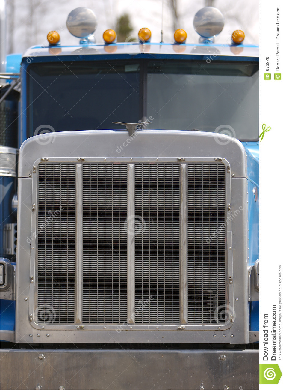 Semi Truck Front End Stock Photo Image 673920