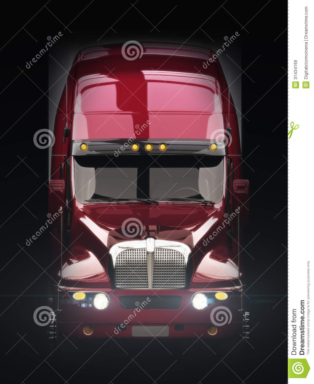 Semi Truck Seats >> Semi Truck Front View Royalty Free Stock Images - Image: 31434169