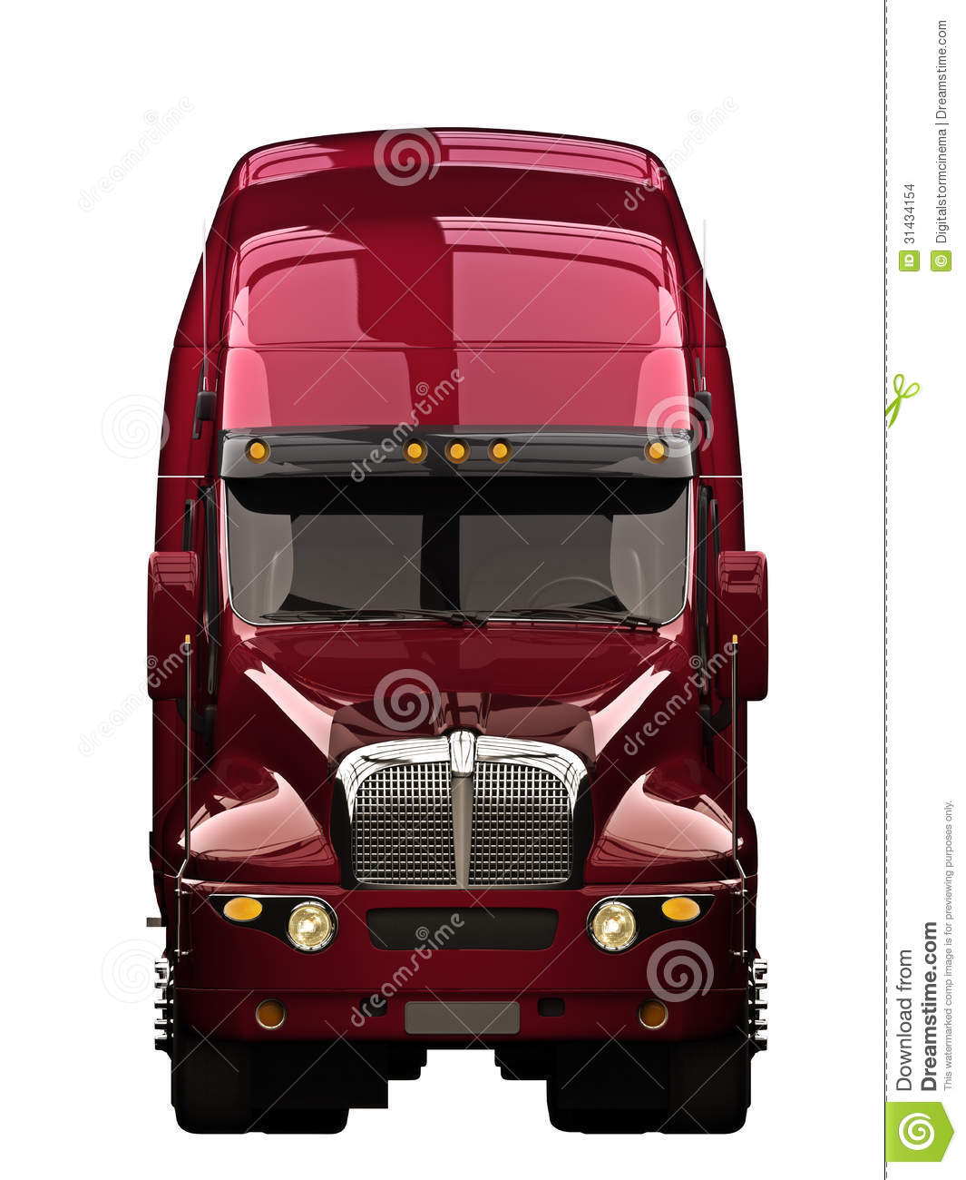 Semi Truck Front View Stock Images - Image: 31434154
