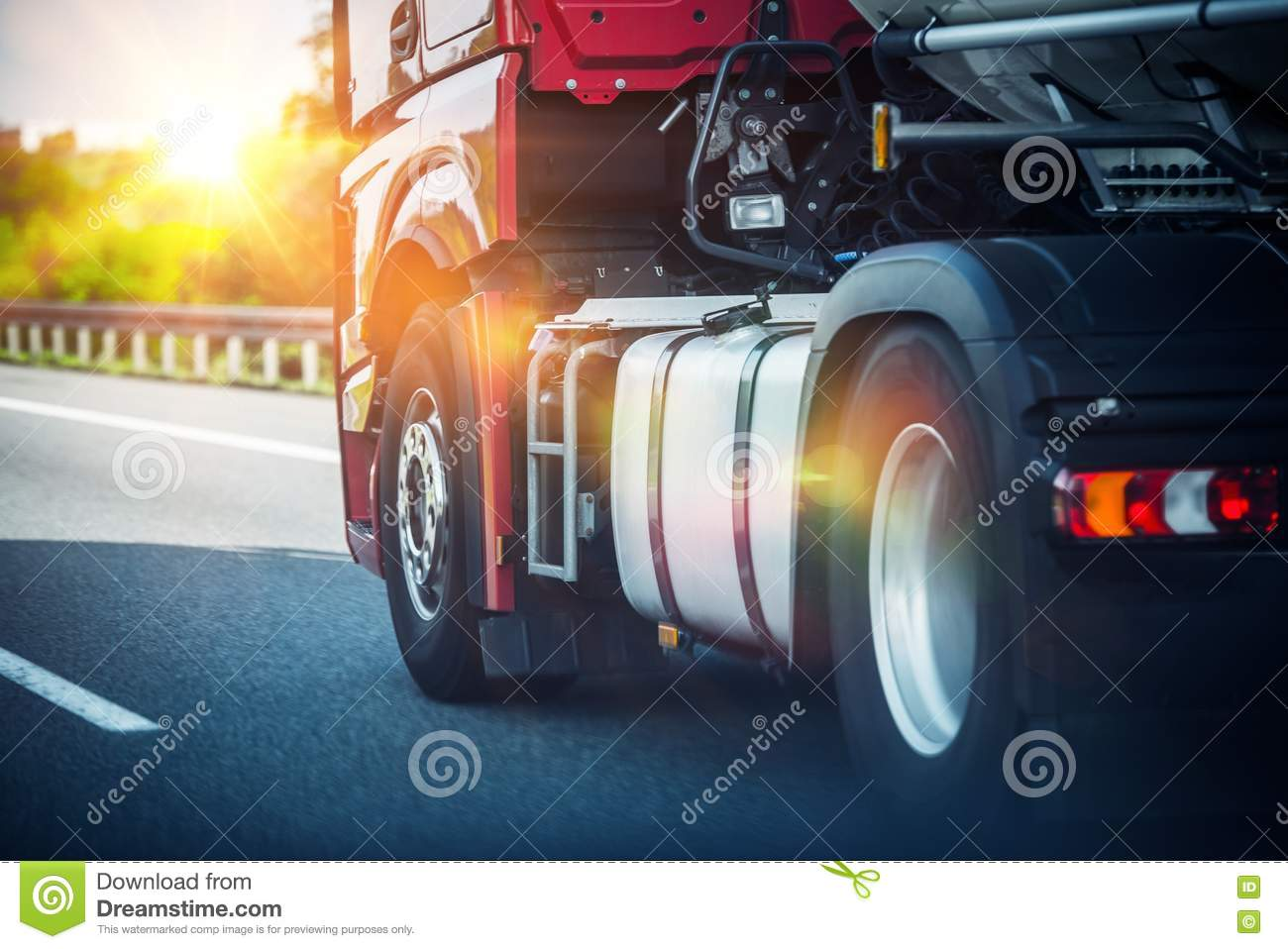 Semi Truck on a Highway