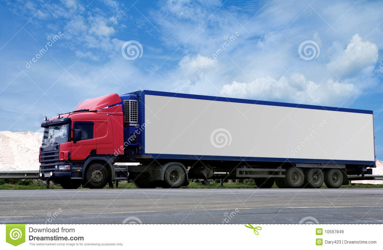 Semi Tractor Trailer : Semi truck and trailer royalty free stock images image