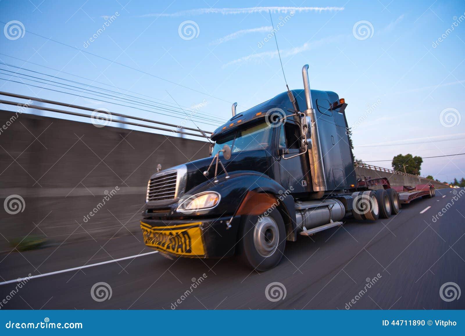 semi truck with trailer inscription overload at speed on Semi- Trailer Cartoon Semi Truck Logos