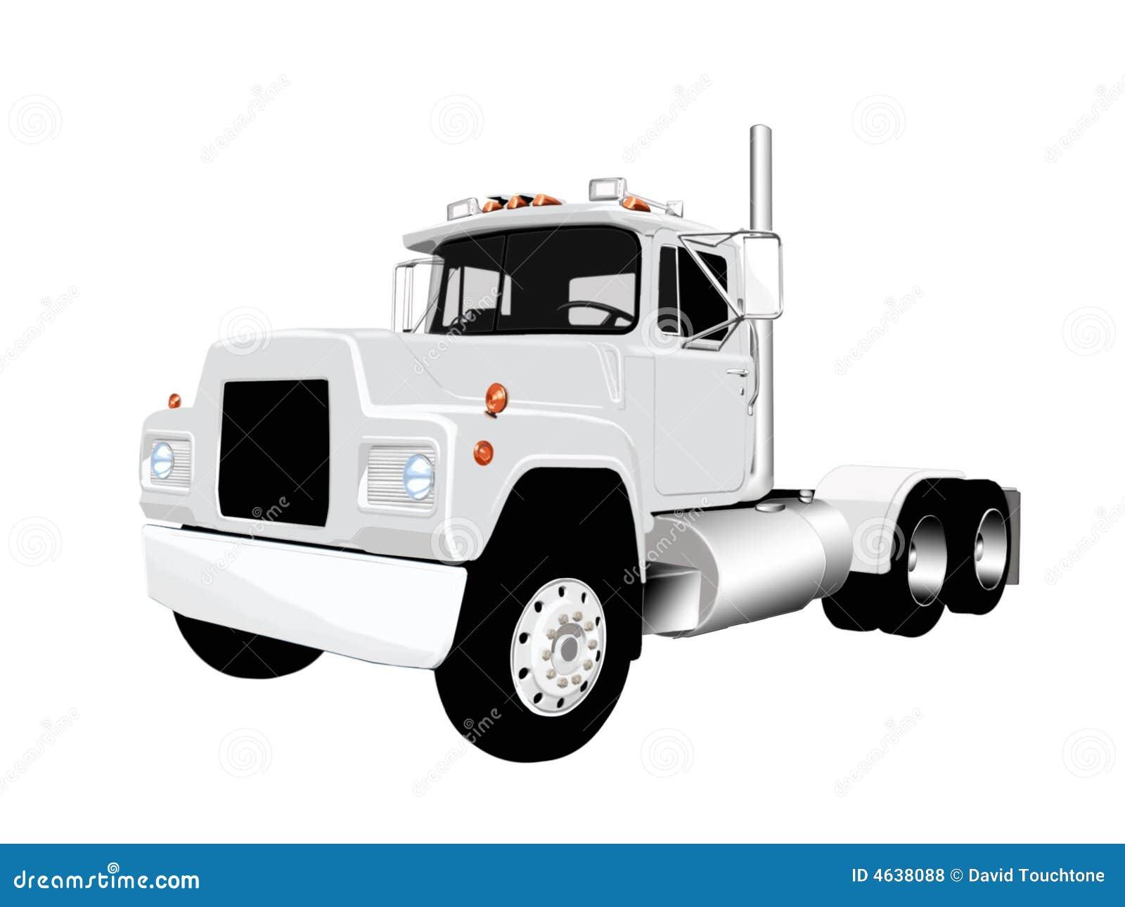 Semi vetor do caminhão