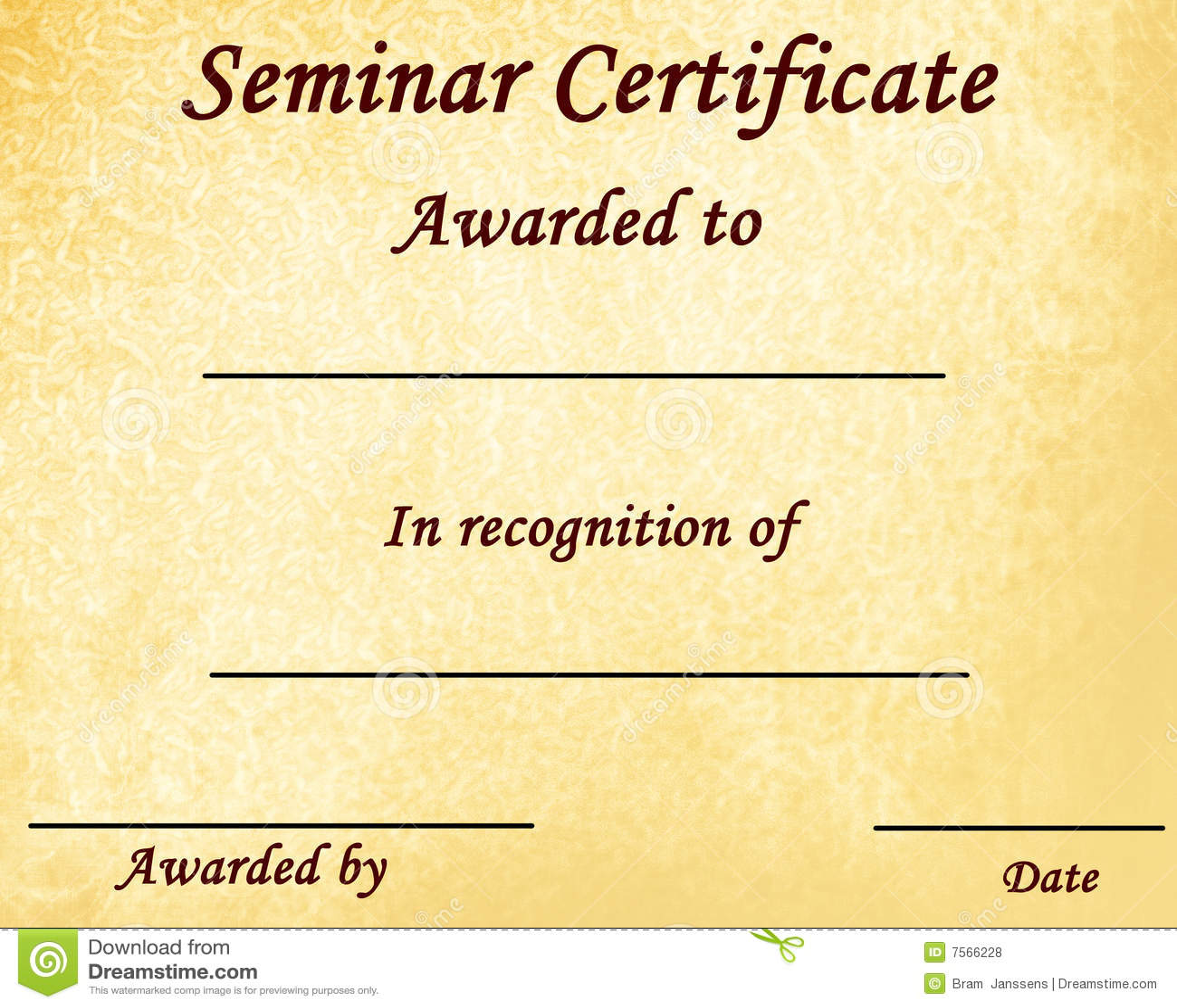 Online 3d Room Design Seminar Certificate Royalty Free Stock Photos Image 7566228