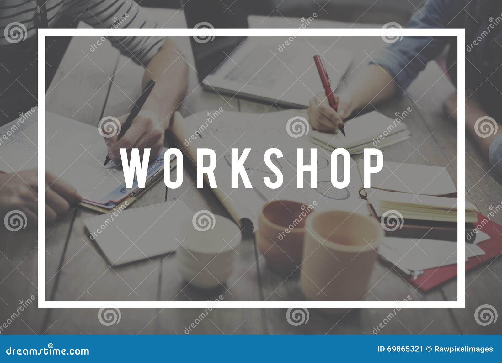 Seminario del taller que aprende concepto del grupo de estudio