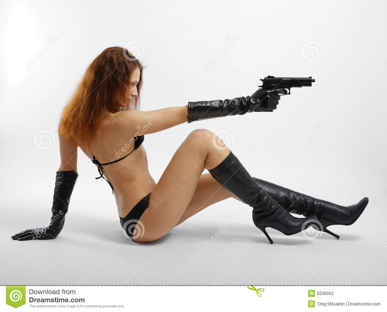 nude women shooting gun