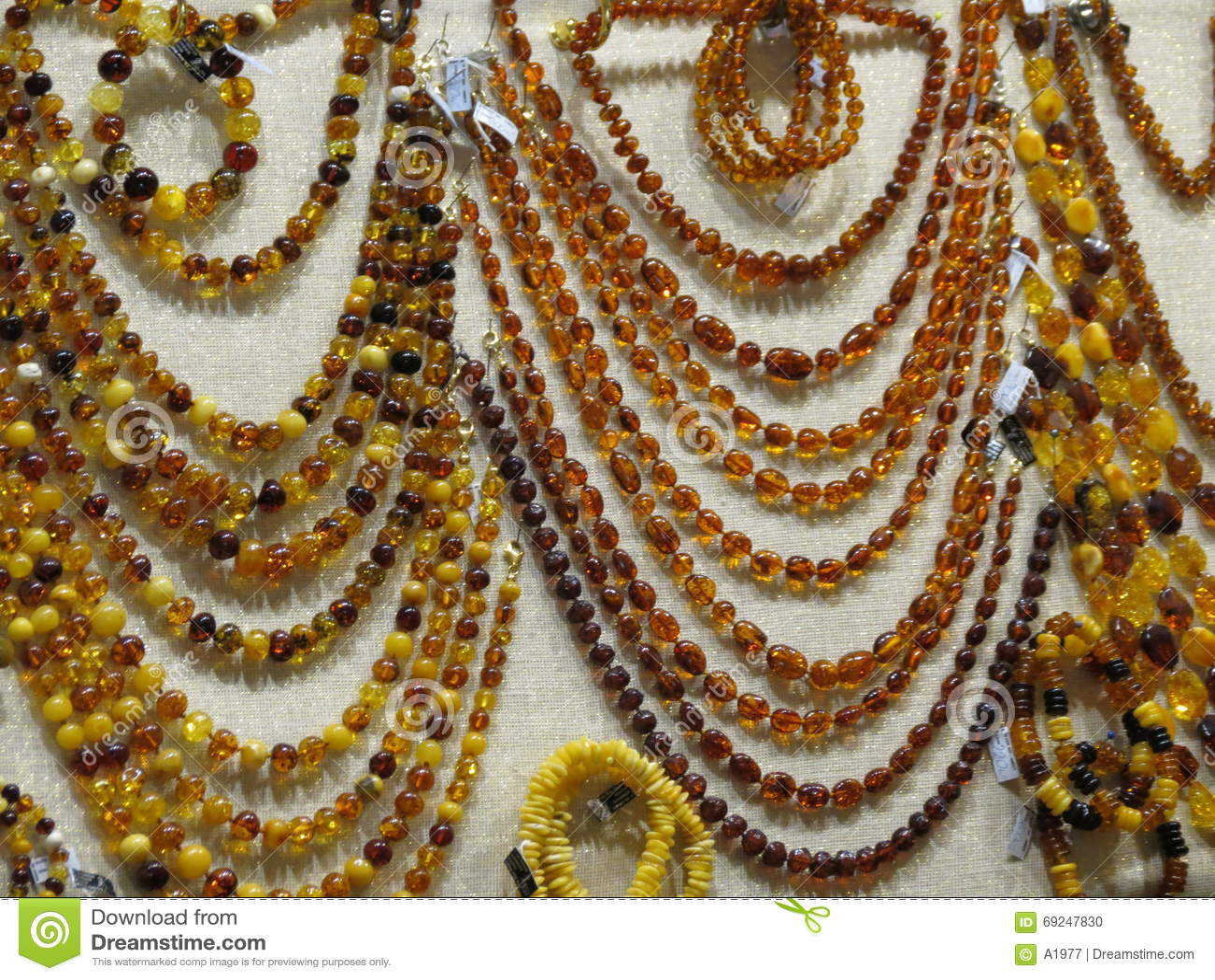 Semiprecious Stone Necklaces Stock Photo Image Of Brown