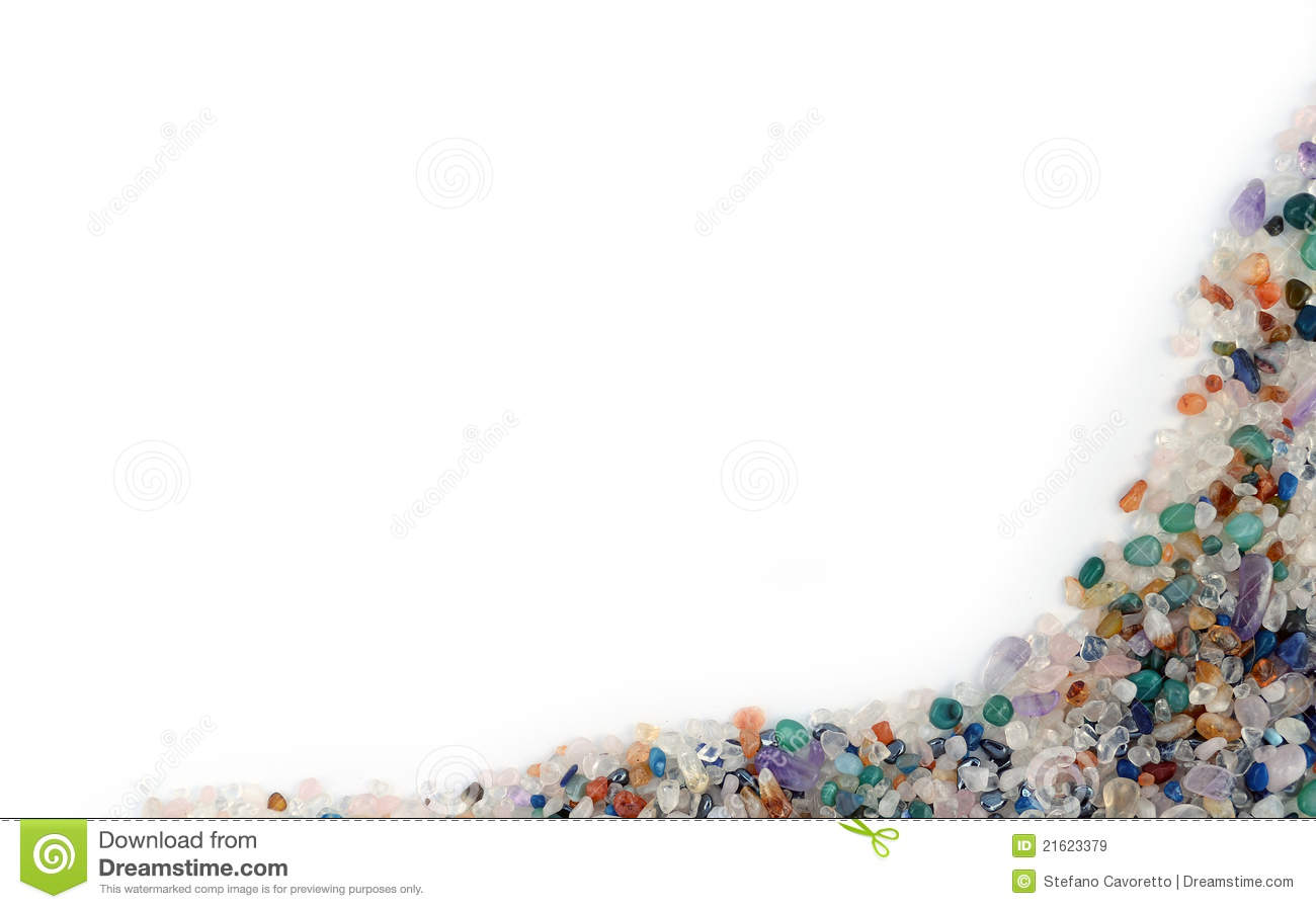 Semiprecious Stones Border Royalty Free Stock Images