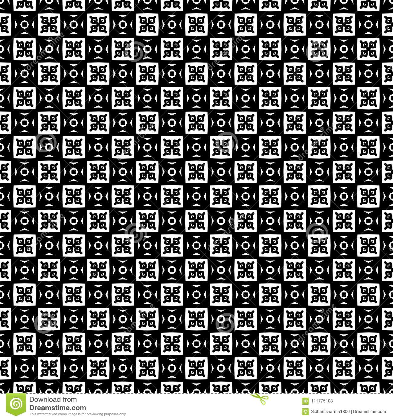 Vector Black White repeat Designs