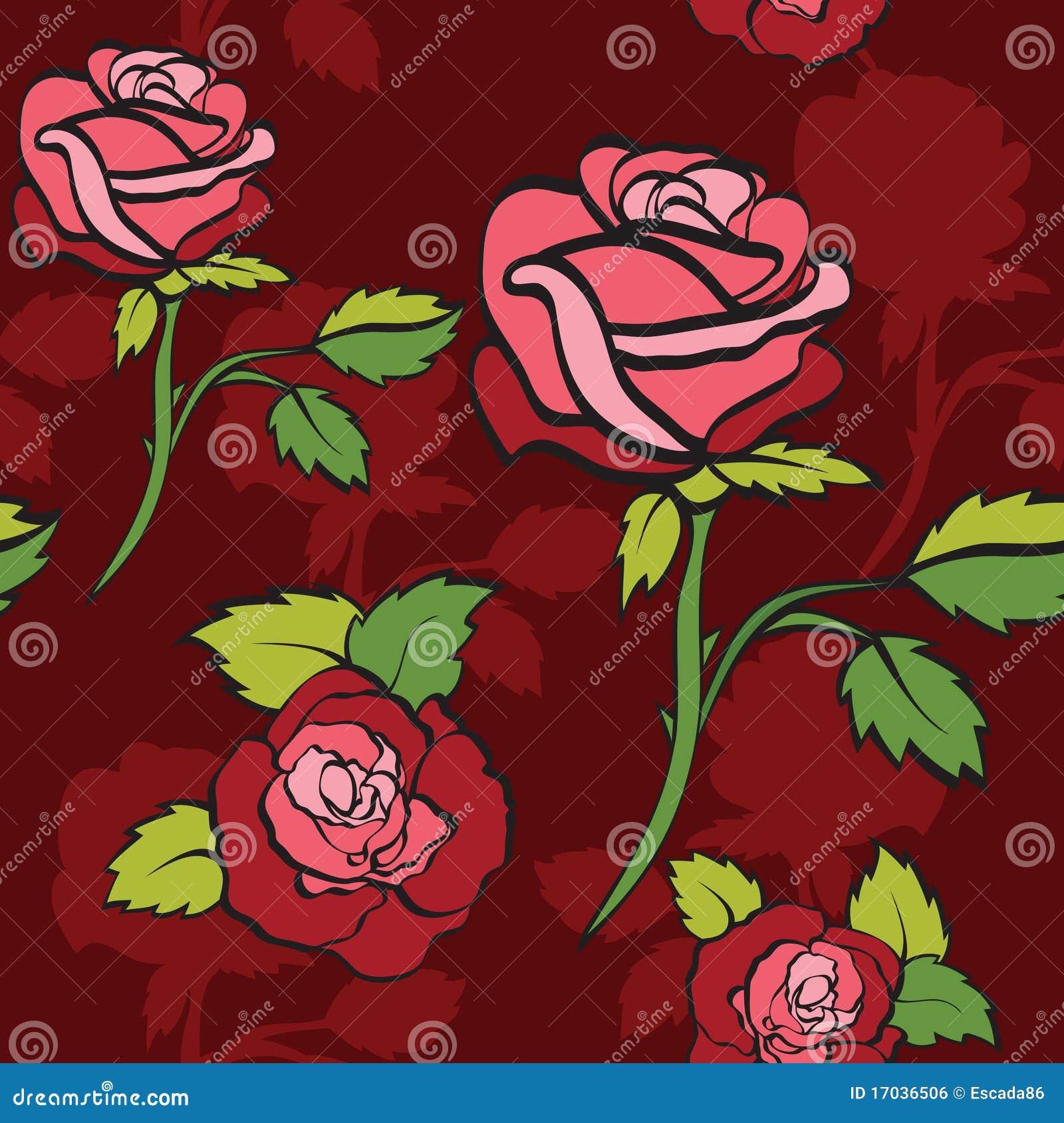 Semless tło róże