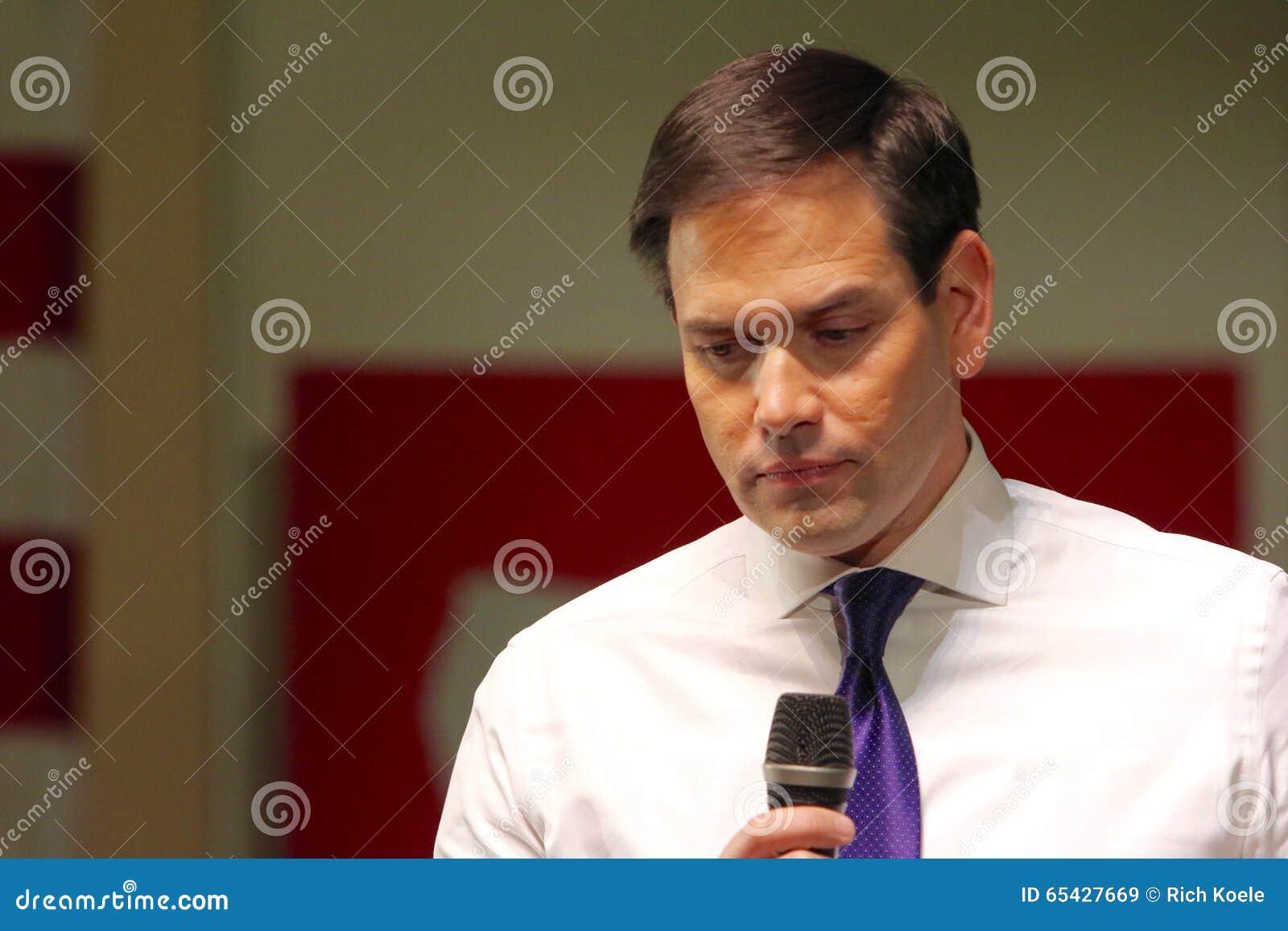 Senador Marco Rubio del candidato presidencial