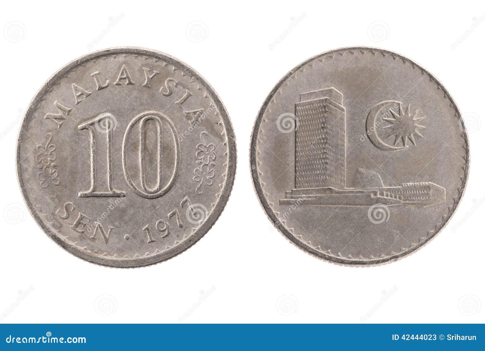1977 10 senador moneda de Malasia
