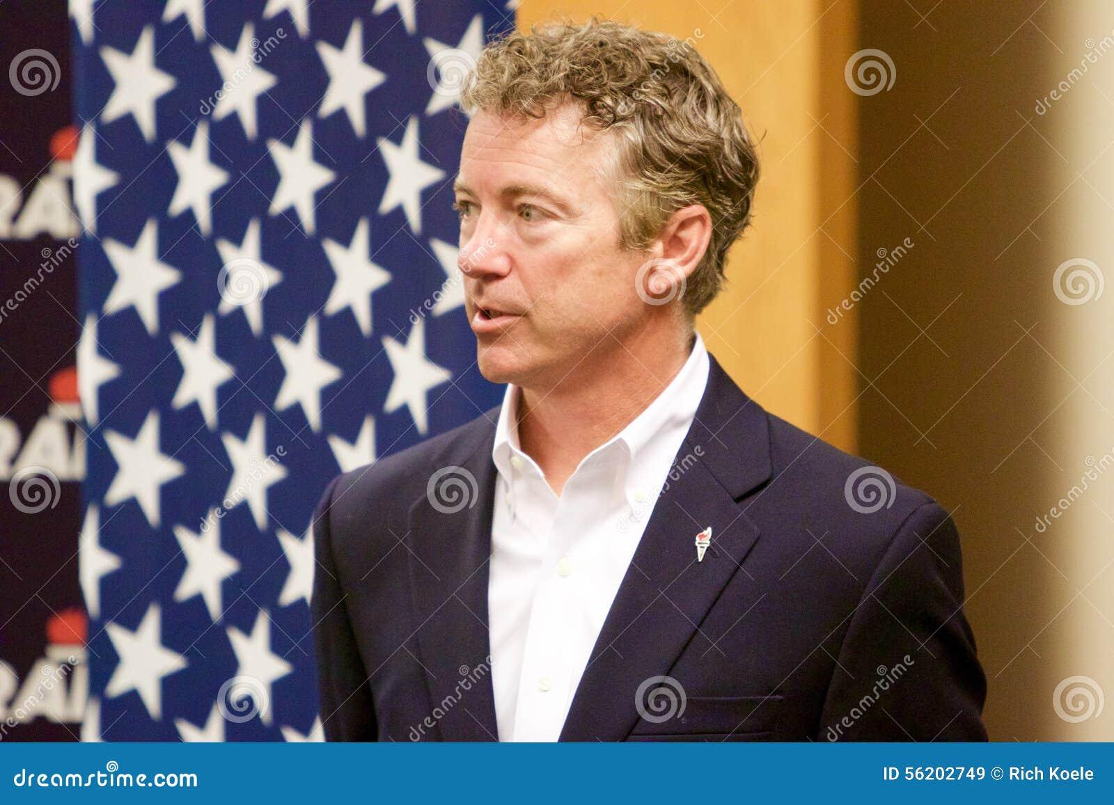 Senador Rand Paul del candidato presidencial