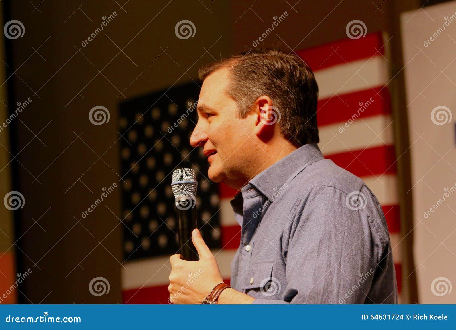 Senador Ted Cruz del candidato presidencial