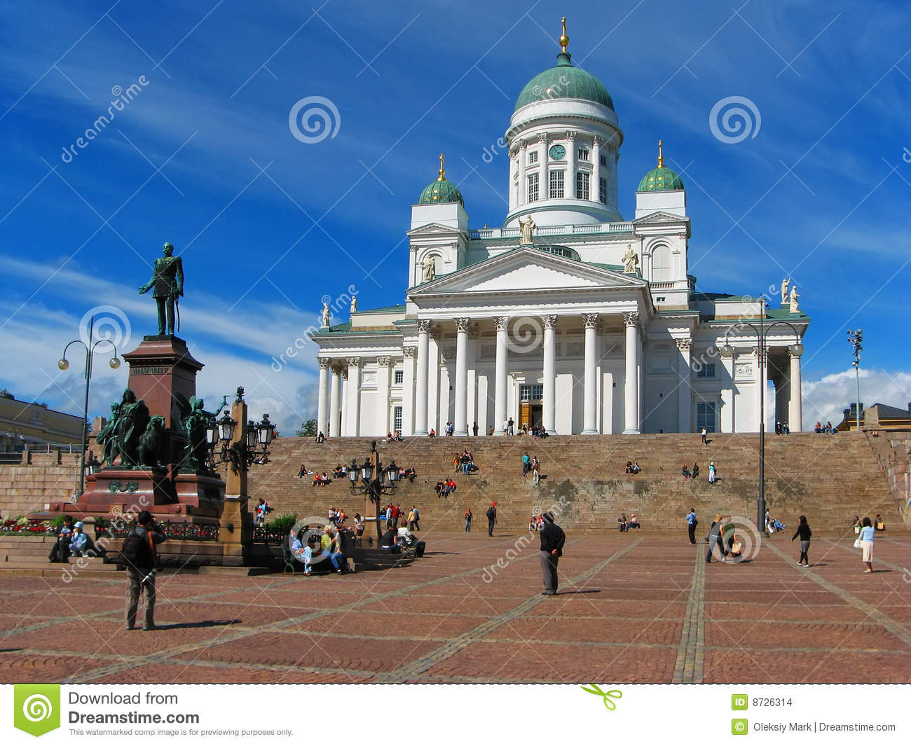 Senate Square At Night In Helsinki, Finland Stock Photo - Image ...