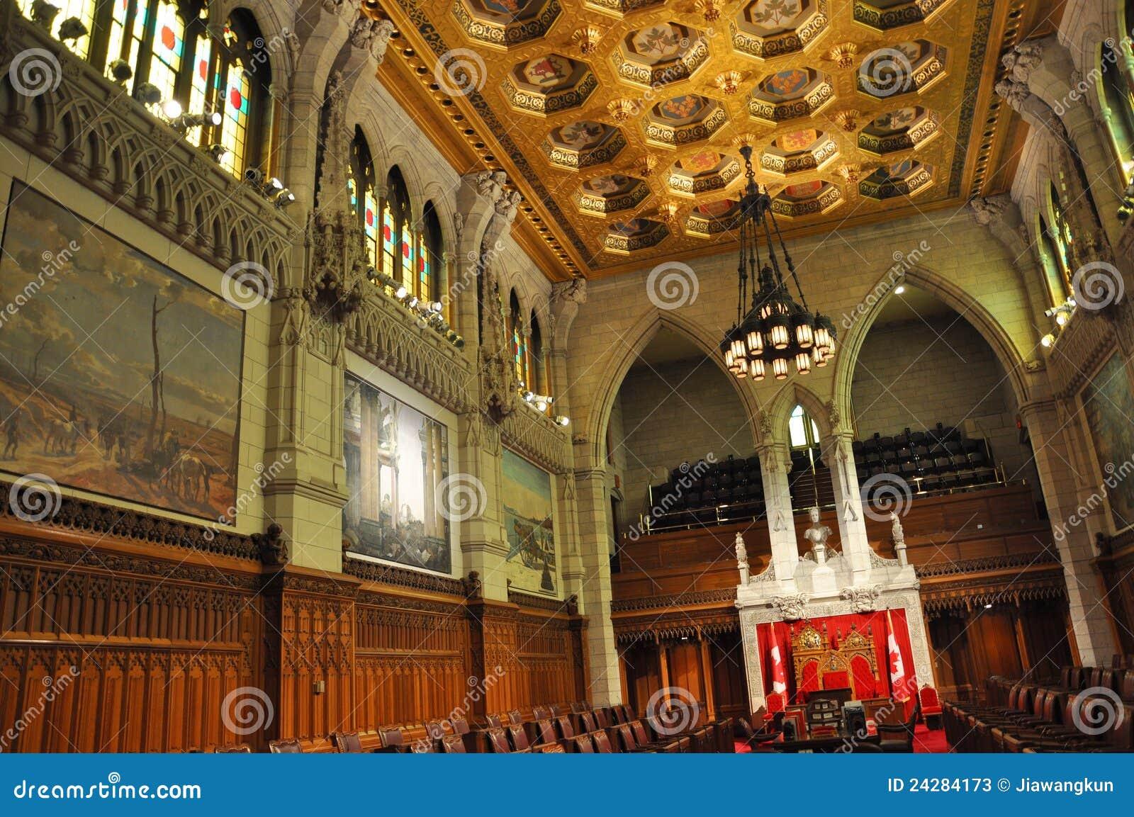 Senato del parlamento ottawa canada immagine stock for Parlamento senato