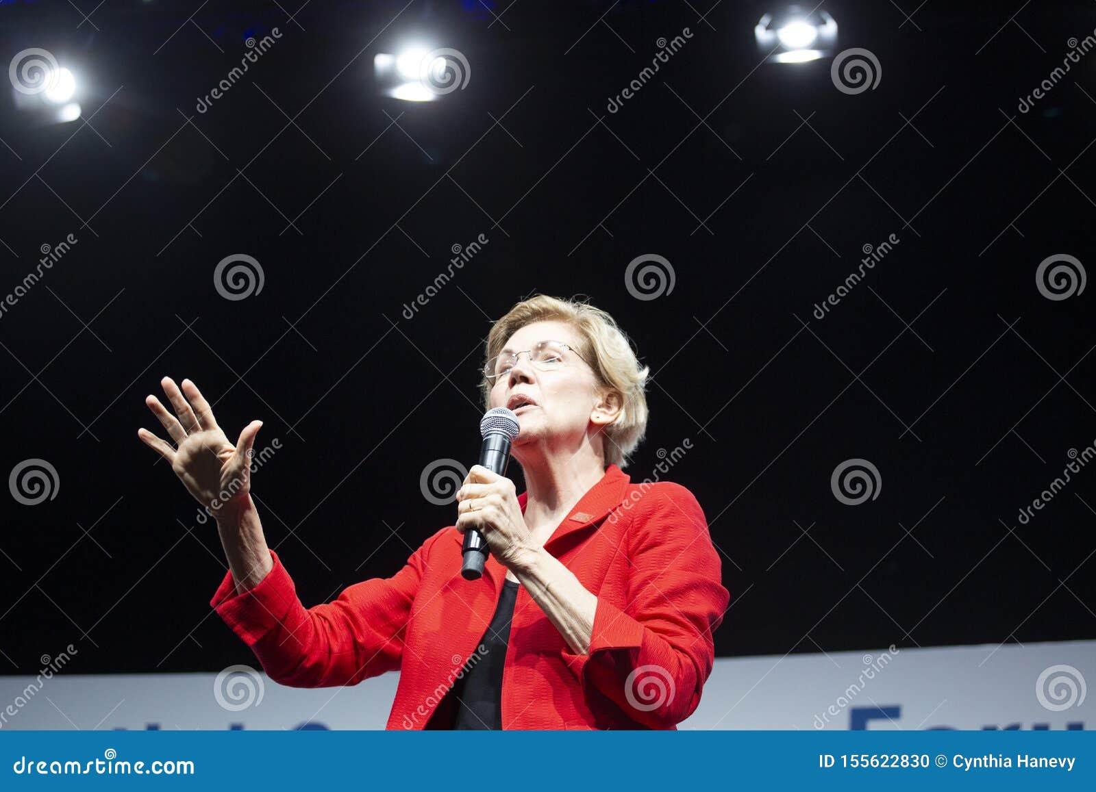 Senator Elizabeth Warren, Sierpień 10, 2019