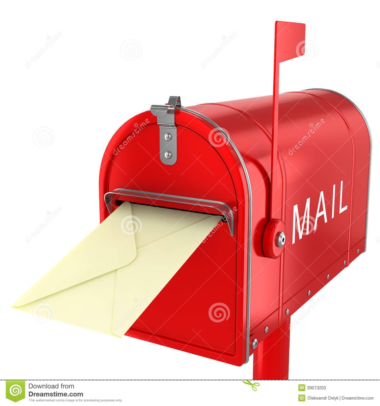 Mail Letter In Mailbox